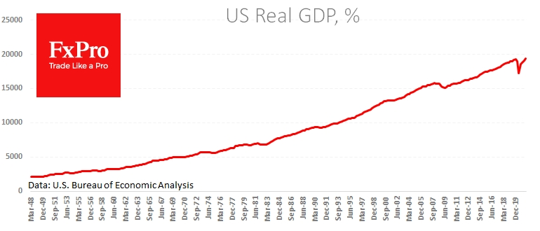 US economy surpassed pre-pandemic level is