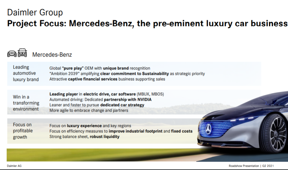 Daimler Group Project Focus: Mercedes Car Business