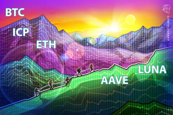 Top 5 cryptocurrencies to watch this week: BTC, ETH, ICP, AAVE, LUNA