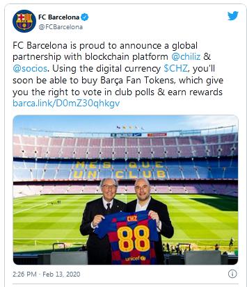 FC Barcelona Tweet