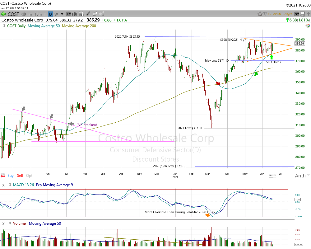 Costco Wholesale Daily Chart.
