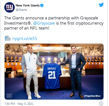 NY Giants Tweet