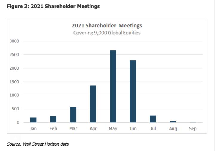 2021 Total Shareholder Meetings Chart