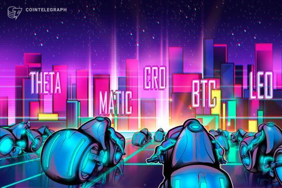 Top 5 cryptocurrencies to watch this week: BTC, MATIC, THETA, CRO, LEO