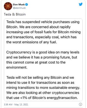 Tweet-Elon Musk
