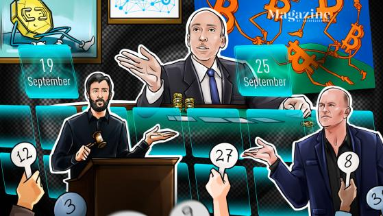Crypto recovers on positive Fed and Evergrande news, then drops amid China FUD; Sorare and Dapper Labs raised a combined $930M: Hodler's Digest, Sept. 19-25