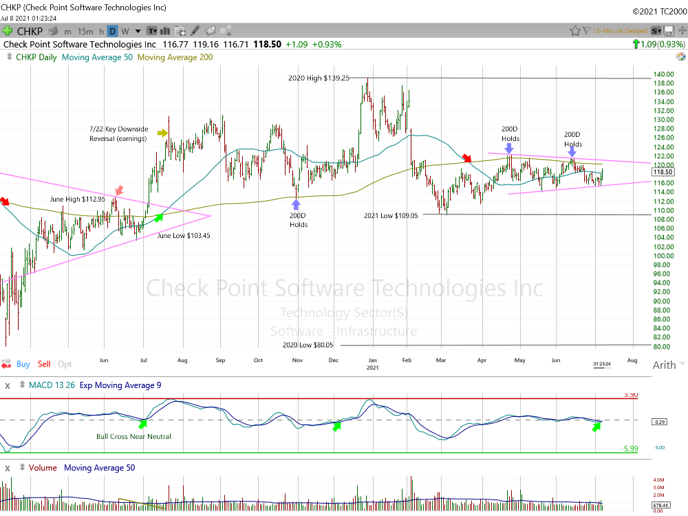 Check Point Software Daily Chart.