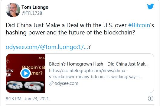 Tweet - Tom Luongo