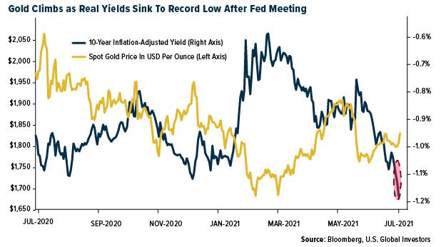 Spot Gold Vs Real Yields